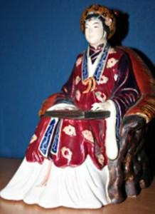 Keizerin-Wu-werkend met de kunde van Wind en Water