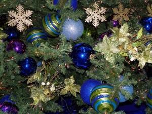 De blauwe kerstballen vragen om een windrichting waar ze goed werk verrichten - Feng Shui Lifestyle