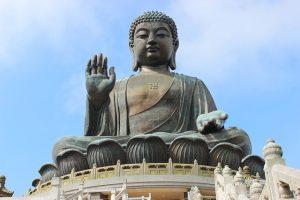 Buddha; belangrijk in Azië en terrein veroverend in het westen