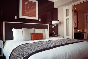 slaapkamer aangepast aan het Feng Shui zelfelement