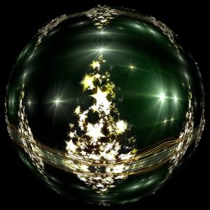 groene kerstbal