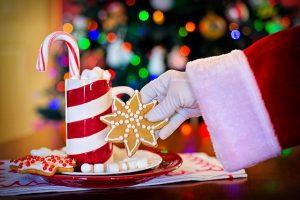 kokjes en melk voor de kerstman